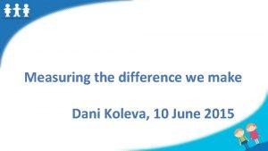 Measuring the difference we make Dani Koleva 10