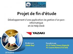 Projet de fin dtude Dveloppement dune application de