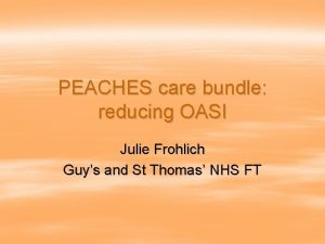PEACHES care bundle reducing OASI Julie Frohlich Guys