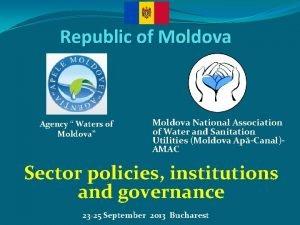 Republic of Moldova Agency Waters of Moldova Moldova