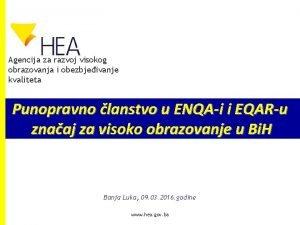 Agencija za razvoj visokog obrazovanja i obezbjeivanje kvaliteta