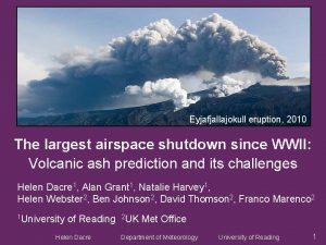 Eyjafjallajokull eruption 2010 The largest airspace shutdown since