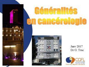 Janv 2017 Dr G Truc pidmiologie Probabilit davoir