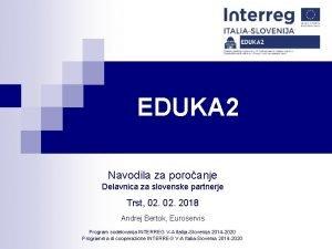 EDUKA 2 Armonizzazione dei dati per la gestione