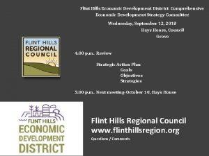 Flint Hills Economic Development District Comprehensive Economic Development