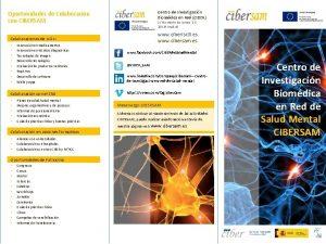 Centro de Investigacin Biomdica en Red CIBER Oportunidades