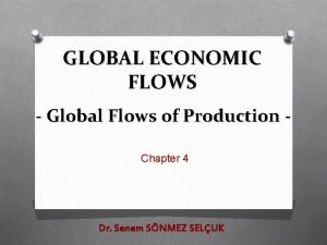 GLOBAL ECONOMIC FLOWS Global Flows of Production Chapter