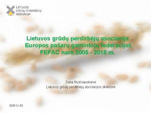 Lietuvos grd perdirbj asociacija Europos paar gamintoj federacijos