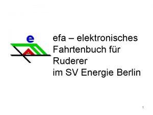 efa elektronisches Fahrtenbuch fr Ruderer im SV Energie