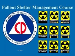 Fallout Shelter Management Course 2009 version Fallout Shelter