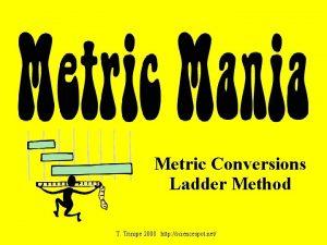 Metric Conversions Ladder Method T Trimpe 2008 http