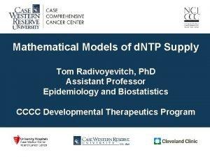 Mathematical Models of d NTP Supply Tom Radivoyevitch
