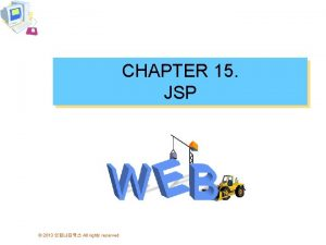 CHAPTER 15 JSP 2013 All rights reserved hello