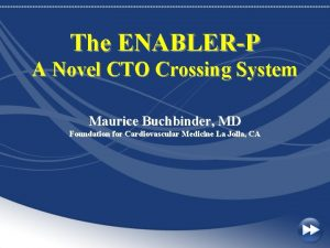 The ENABLERP A Novel CTO Crossing System Maurice