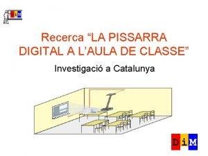 Recerca LA PISSARRA DIGITAL A LAULA DE CLASSE