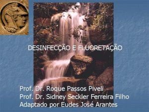DESINFECO E FLUORETAO Prof Dr Roque Passos Piveli