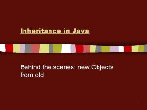 Inheritance in Java Behind the scenes new Objects