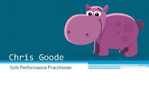 Chris Goode Solo Performance Practitioner Biography Chris Goode