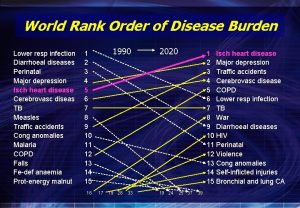 World Rank Order of Disease Burden Lower resp