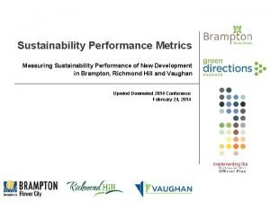 Sustainability Performance Metrics Measuring Sustainability Performance of New