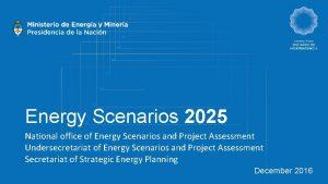 Energy Scenarios 2025 National office of Energy Scenarios