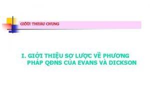 GII THIEU CHUNG I GII THIU S LC