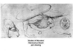 Studies of Monsters Hieronymus Bosch pen drawing Two