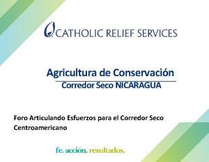 Agricultura de Conservacin Corredor Seco NICARAGUA Foro Articulando