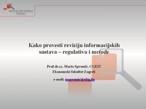 Kako provesti reviziju informacijskih sustava regulativa i metode