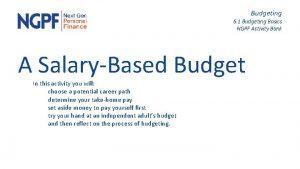 Budgeting 6 1 Budgeting Basics NGPF Activity Bank