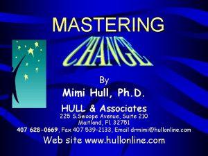 MASTERING By Mimi Hull Ph D HULL Associates