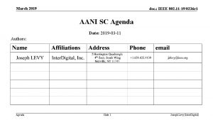 March 2019 doc IEEE 802 11 190236 r