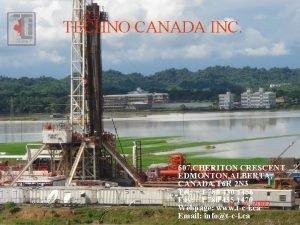 TECHNO CANADA INC 607 CHERITON CRESCENT EDMONTON ALBERTA