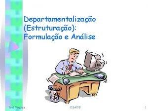 Departamentalizao Estruturao Formulao e Anlise Prof Virginia OSM