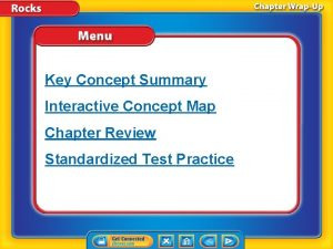 Key Concept Summary Interactive Concept Map Chapter Review
