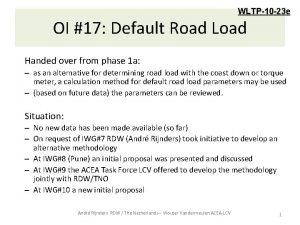 WLTP10 23 e OI 17 Default Road Load