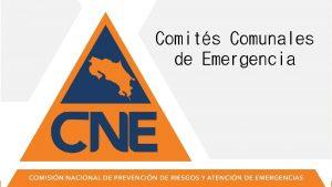 Comits Comunales de Emergencia Comits Regionales Municipales y
