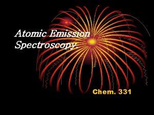 Atomic Emission Spectroscopy Chem 331 Introduction Atomic absorption