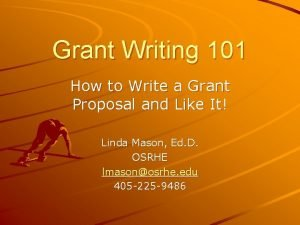 Grant Writing 101 How to Write a Grant