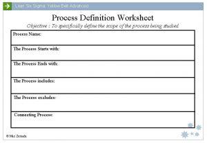 Lean Six Sigma Yellow Belt Advanced Process Definition