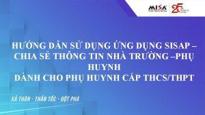 HNG DN S DNG NG DNG SISAP CHIA