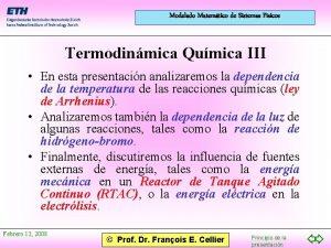 Modelado Matemtico de Sistemas Fsicos Termodinmica Qumica III