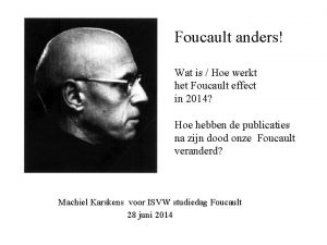 Foucault anders Wat is Hoe werkt het Foucault