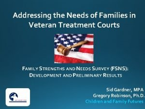 Addressing the Needs of Families in Veteran Treatment