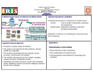 Project Contact Information Cheng Qian 401 Science Engineering