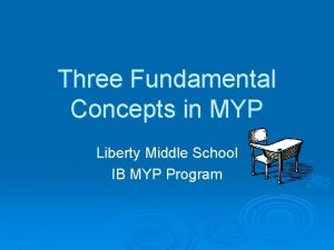 Three Fundamental Concepts in MYP Liberty Middle School