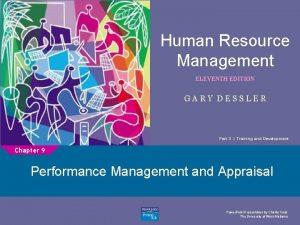 Human Resource Management ELEVENTH EDITION 1 GARY DESSLER