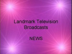 Landmark Television Broadcasts NEWS Nixons Checkers Speech 1952