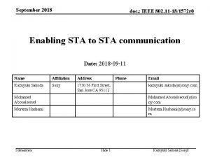 September 2018 doc IEEE 802 11 181572 r