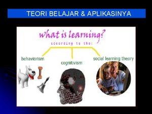 TEORI BELAJAR APLIKASINYA by FH Manfaat Teori Belajar